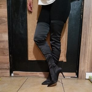 Aldo Over The Knee Black Boots